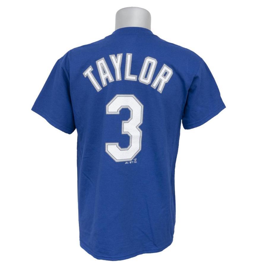 MLB ドジャース クリス・テイラー プレイヤー Tシャツ マジェスティック/Majestic ブルー