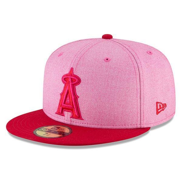 MLB エンゼルス 59FIFTY フィッテッド キャップ 選手着用 ピンク カラー 2018 マザーズデイ ニューエラ/New Era