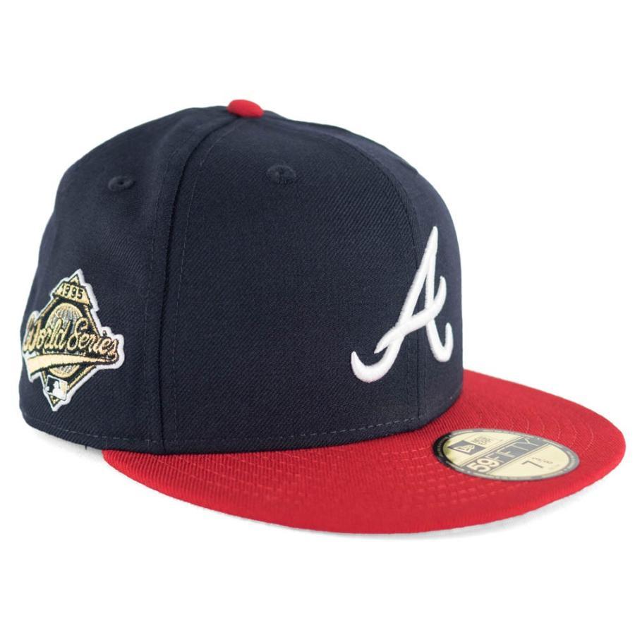 MLB ブレーブス キャップ 帽子 ワールドシリーズパッチ1995 ニューエラ/New Era ネイビー