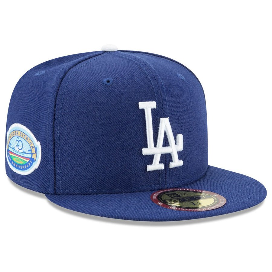 MLB ドジャース キャップ 帽子 ドジャースタジアム50周年記念 パッチ付き ニューエラ/New Era オルタネート