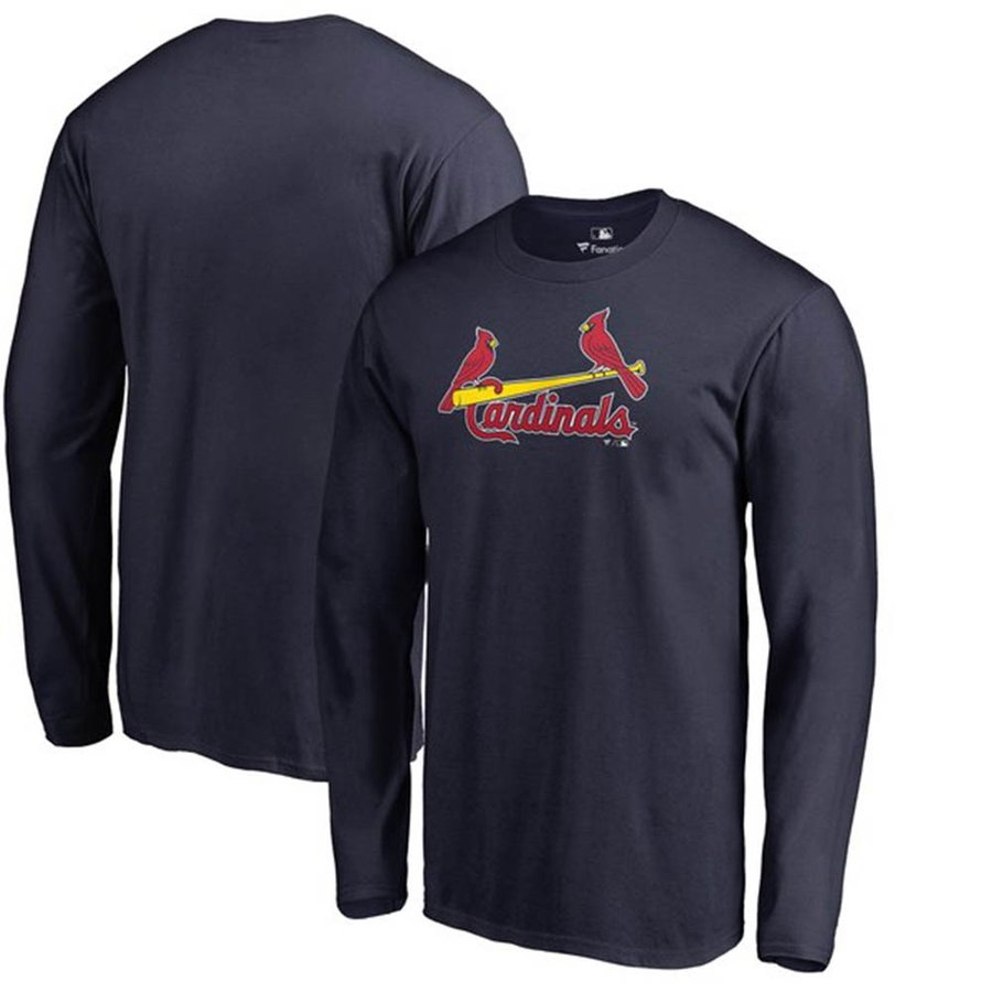 お取り寄せ MLB カージナルス Tシャツ チーム ワードマーク ロングスリーブ ネイビー