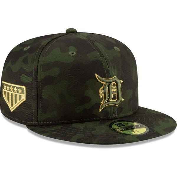 MLB タイガース キャップ 帽子 2019 Armed Forces Day On-Field 59FIFTY ニューエラ/New Era カモ