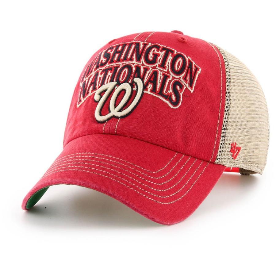 ワールドシリーズ進出 MLB ナショナルズ キャップ 帽子 タルカルーサ クリーンナップ アジャスタブル 47 Brand