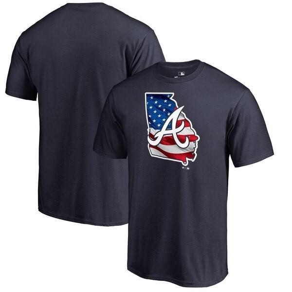 MLB ブレーブス Tシャツ 2019 メモリアル デー バナー ステート ネイビー