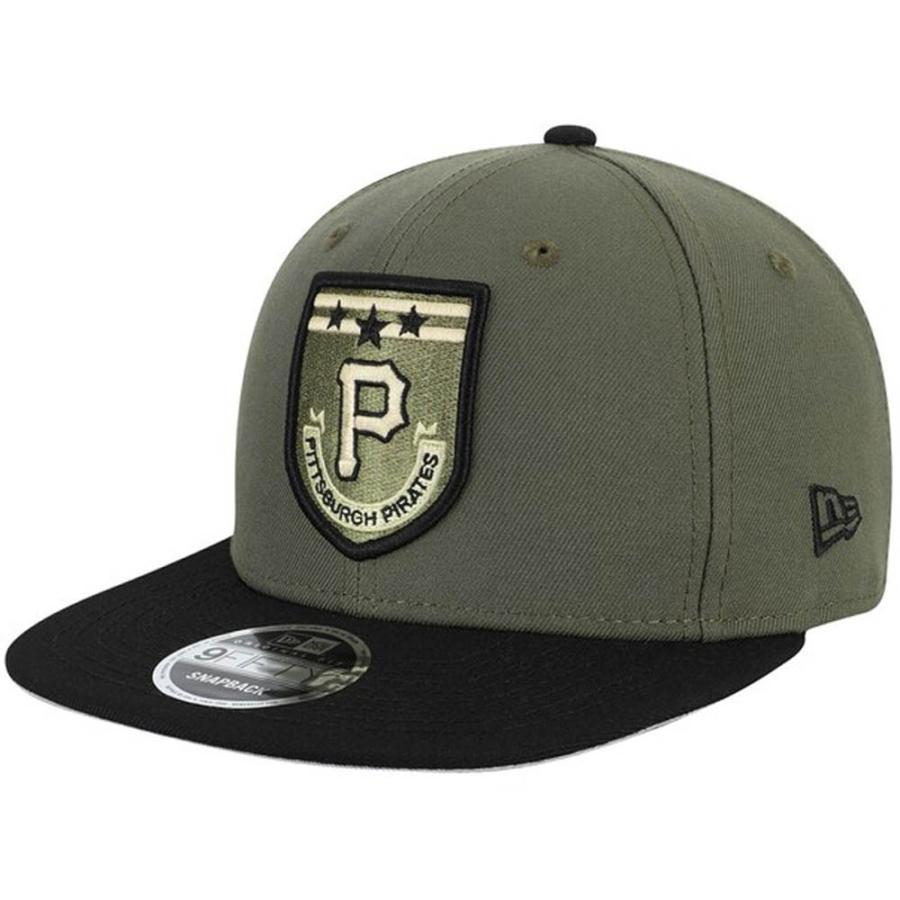 MLB パイレーツ キャップ 帽子 アーミーパッチ 9FIFTY アジャスタブル ニューエラ/New Era グリーン