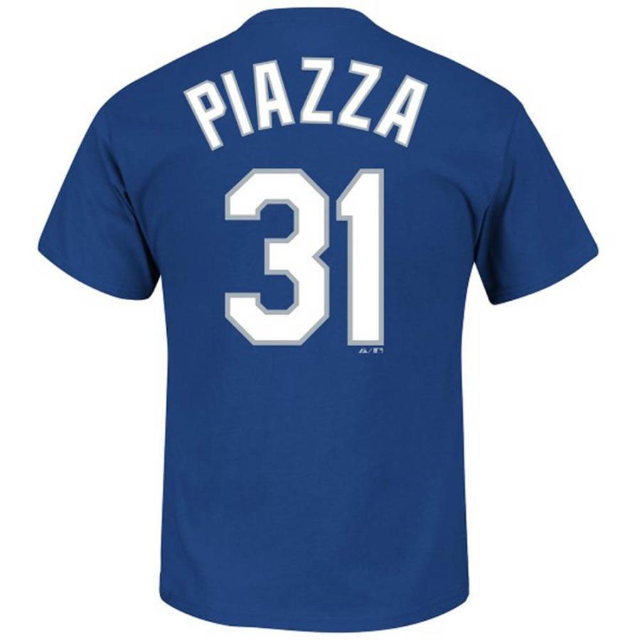 MLB ドジャース マイク・ピアザ Tシャツ ネーム&ナンバー マジェスティック/Majestic Royal