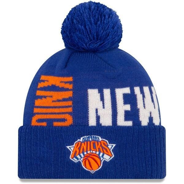 NBA ニューヨーク・ニックス ニットキャップ/ニット帽 2019 NBA ティップオフシリーズ カフド ニューエラ/New Era ブルー