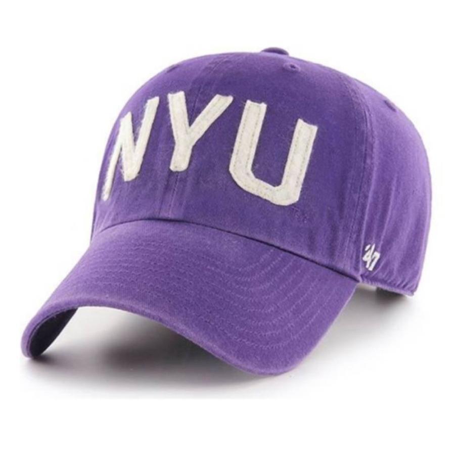 NCAA ニューヨーク大学 キャップ 帽子 アジャスタブルキャップ 47 Brand パープル