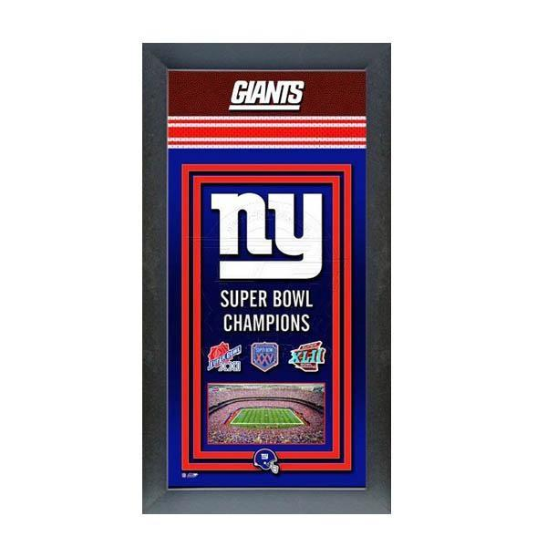 NFL ジャイアンツ フォト ファイル/Photo File Framed Championship Banner - 14.5 x 27.5【1910価格変更】