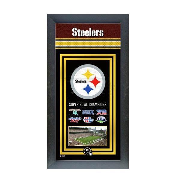 お取り寄せ NFL スティーラーズ フォト ファイル/Photo File Framed Championship Banner - 14.5 x 27.5【1910価格変更】
