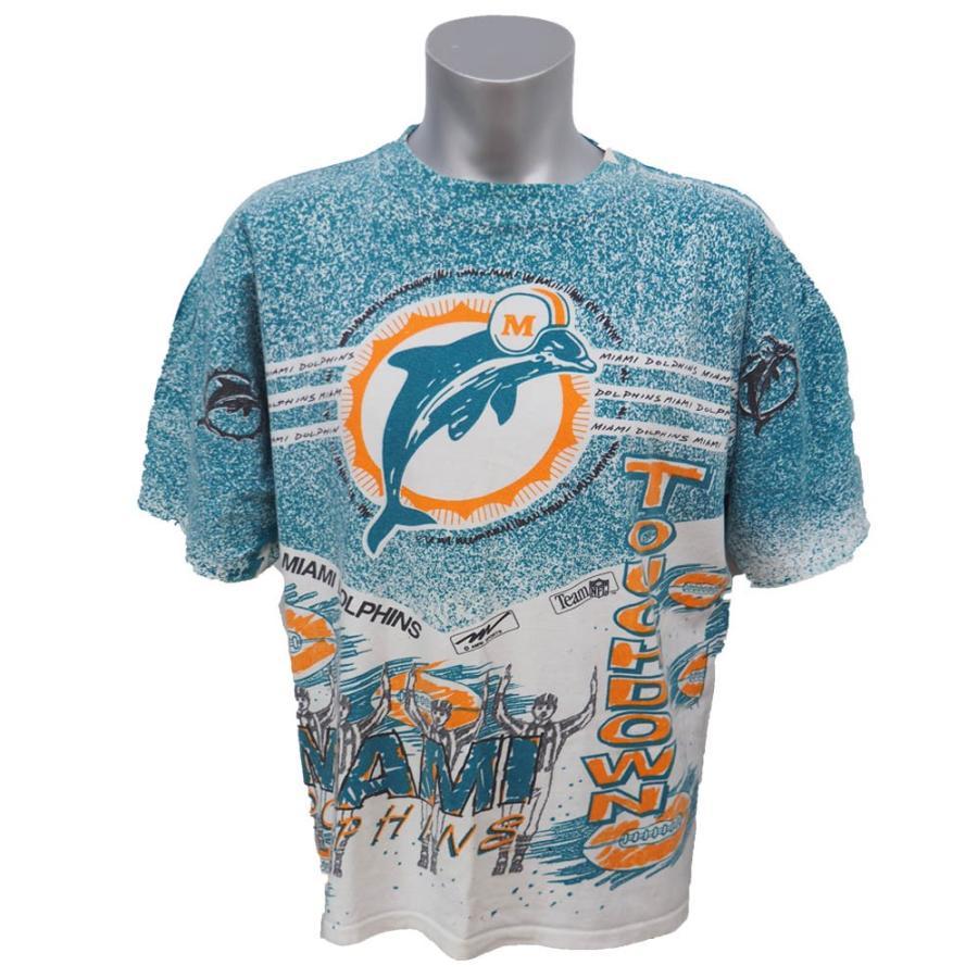安いそれに目立つ NFL ドルフィンズ Tシャツ オールオーバー タッチダウン Tシャツ Magic Johnson Ts アクア Ts NFL レアアイテム, アナザーセレクト:f67bb9c6 --- airmodconsu.dominiotemporario.com