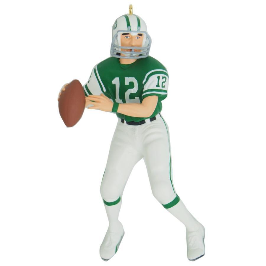 NFL ジェッツ ジョー・ネイマス クリスマスオーナメント Hallmark レアアイテム