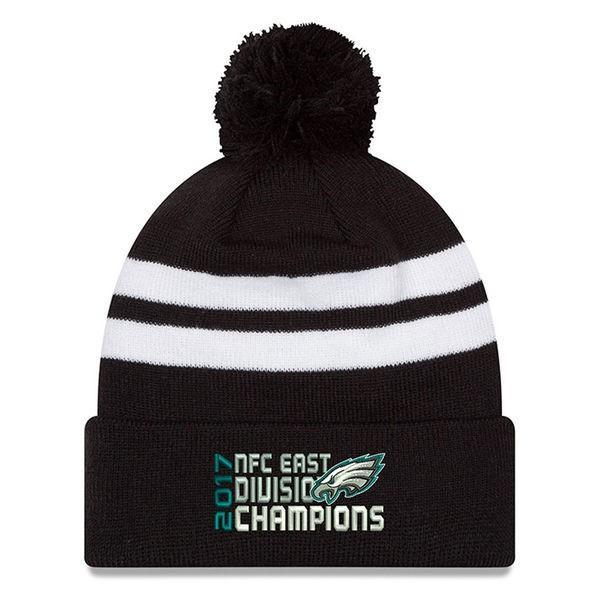 NFL イーグルス 2017 NFC 東地区優勝記念 カフ ニットキャップ/ニット帽 ニューエラ/New Era ブラック