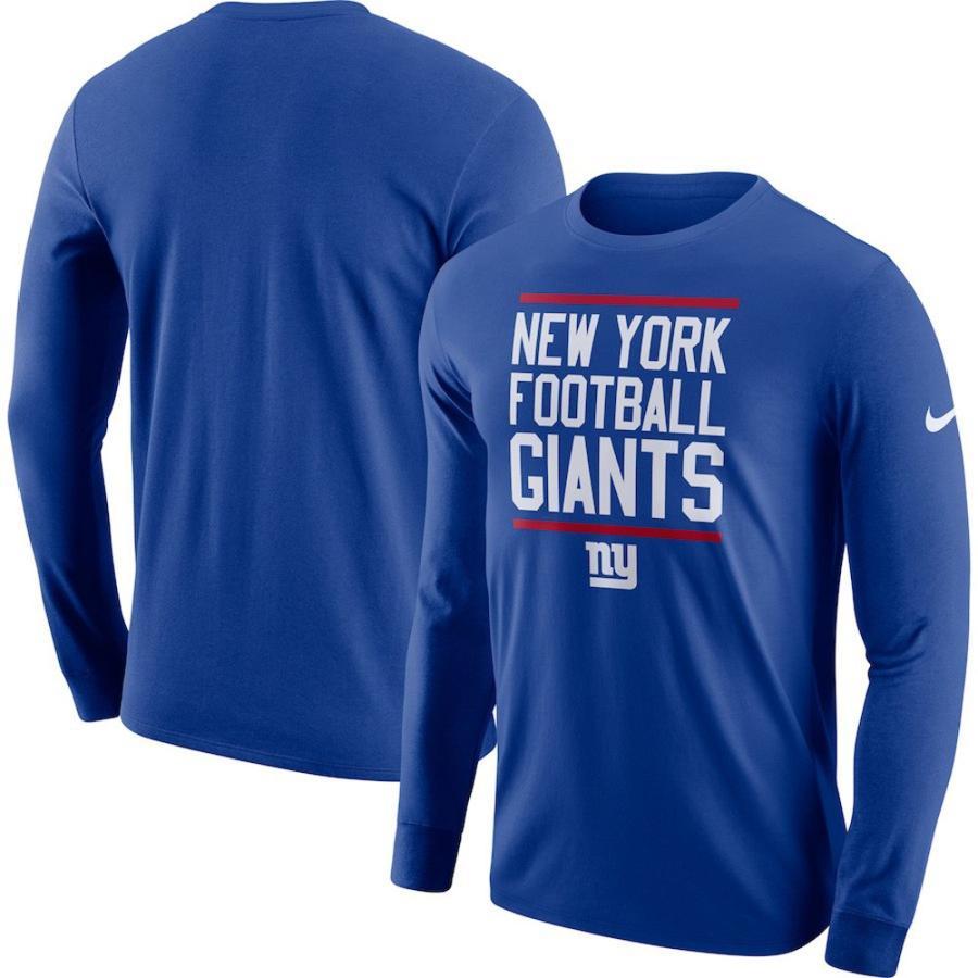 お取り寄せ NFL ジャイアンツ Tシャツ ローカル ロックアップ パフォーマンス 長袖 ナイキ/Nike ロイヤル