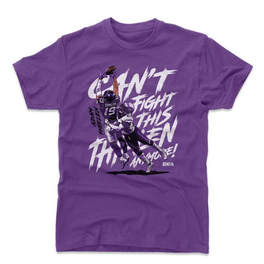 NFL バイキングス アダム・シーレン Tシャツ Player Art Cotton T-Shirt 500Level パープル