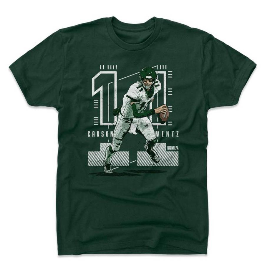 NFL イーグルス カーソン・ウェンツ Tシャツ Player Art Cotton T-Shirt 500Level Dark 緑