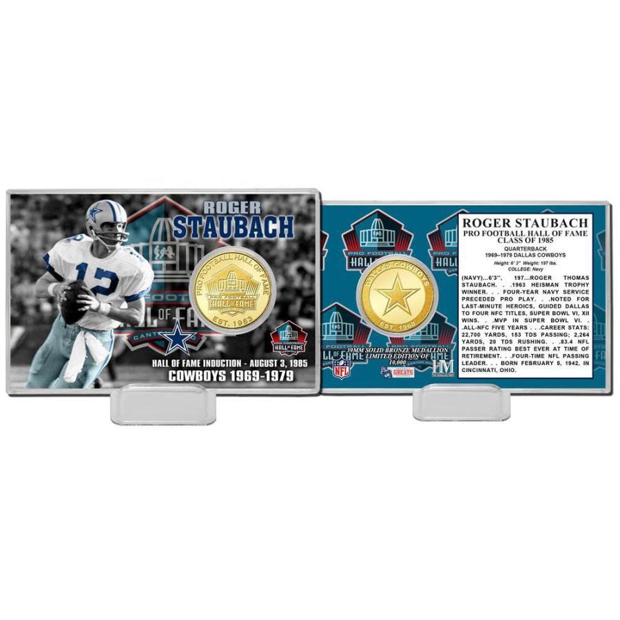 NFL ロジャー・ストーバック プロフットボール ホール オブ フェイム ブロンズ コイン カード The Highland Mint
