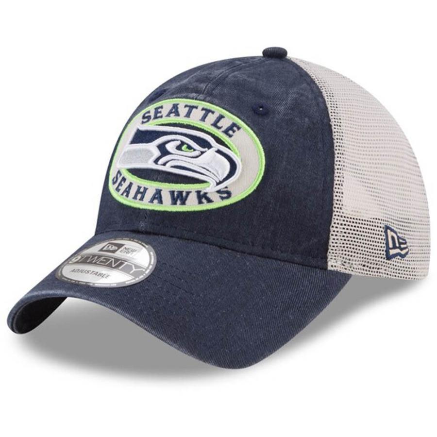 NFL シーホークス キャップ 帽子 フロントパッチ プライド トラッカー ニューエラ/New Era カレッジネイビー