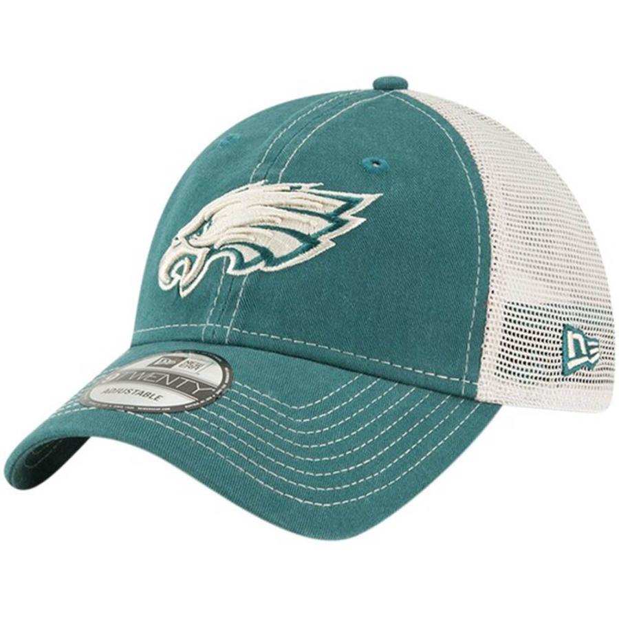 NFL イーグルス キャップ 帽子 ラスティック マーク トラッカー アジャスタブル ニューエラ/New Era ミッドナイトグリーン