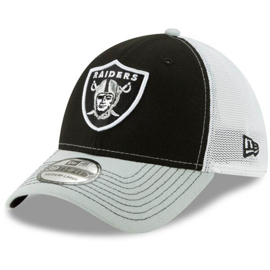 NFL レイダース キャップ 帽子 プラクティス ピース フレックス ハット ニューエラ/New Era ブラック