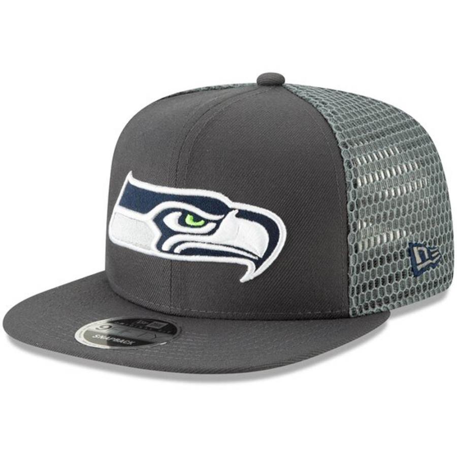 NFL シーホークス キャップ 帽子 メッシュ フレッシュ スナップバック ニューエラ/New Era グラファイト