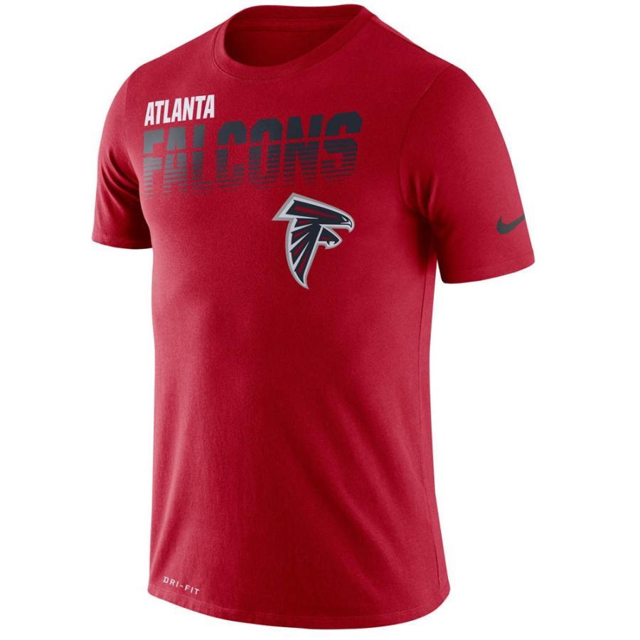 NFL ファルコンズ Tシャツ サイドライン パフォーマンス ナイキ/Nike レッド