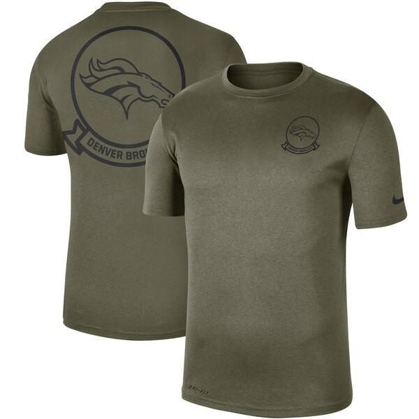 NFL ブロンコス Tシャツ 2019 サルート トゥ サービス サイドライン シール レジェンド パフォーマンス ナイキ/Nike オリーブ