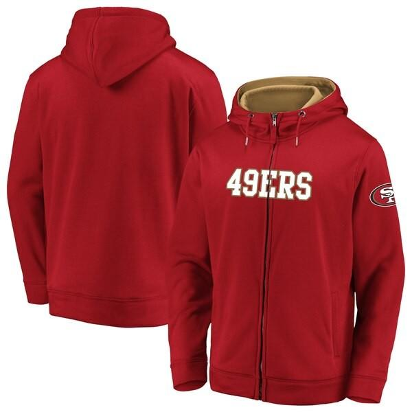 【お気に入り】 スーパーボウル進出 NFL パーカー 49ers フーディー ランゲーム フルジップ スカーレット, Eternal 3e59d614
