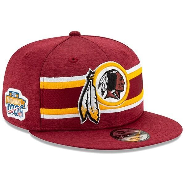 NFL レッドスキンズ レッドスキンズ レッドスキンズ キャップ/帽子 2019 サンクスギビング サイドライン 9FIFTY ニューエラ/New Era バーガンディ 642