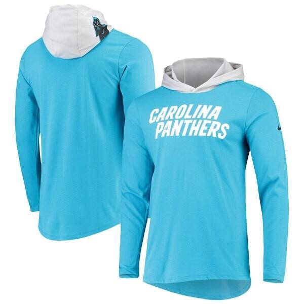 最新作 NFL パンサーズ Tシャツ ヘルメット ブルー パンサーズ フード ロング スリーブ Tシャツ ナイキ/Nike ブルー, バッテリーのことならTHE BATTERY:44f7ef13 --- airmodconsu.dominiotemporario.com