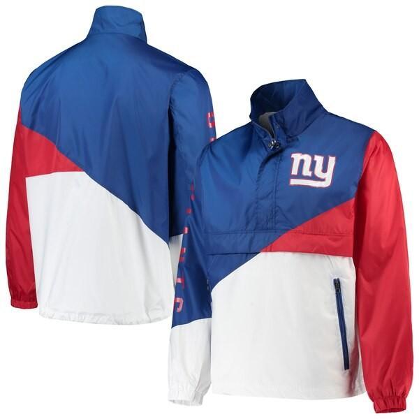 激安人気新品 NFL ジャイアンツ ジャケット/アウター ダブル チーム ハーフジップ プルオーバー G-III ロイヤル ホワイト, ブランド古着の買取販売カンフル 85fcbb47