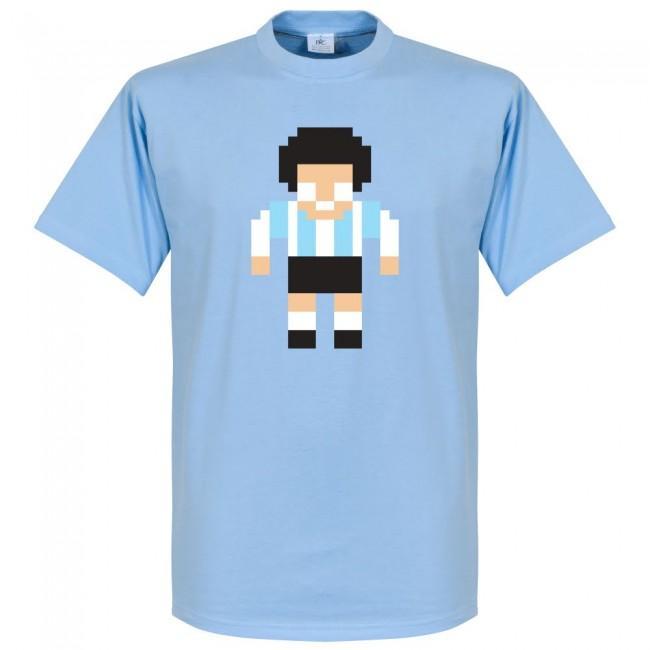 アルゼンチン代表 マラドーナ Tシャツ SOCCER ピクセル サッカー/フットボール ブルー