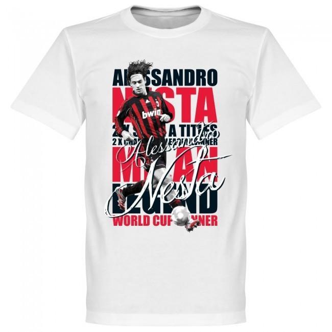 ACミラン アレッサンドロ・ネスタ Tシャツ SOCCER レジェンド サッカー/フットボール ホワイト