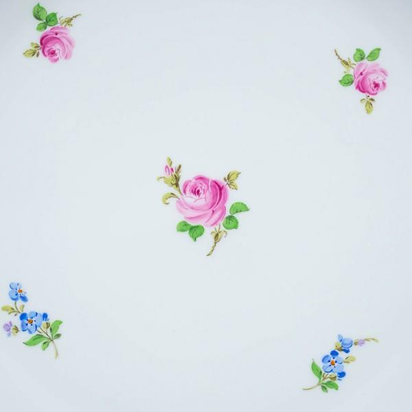 マイセン スキャタードフラワー(散らし小花) ディープラウンドプラター(ピンクローズ) selectors 02