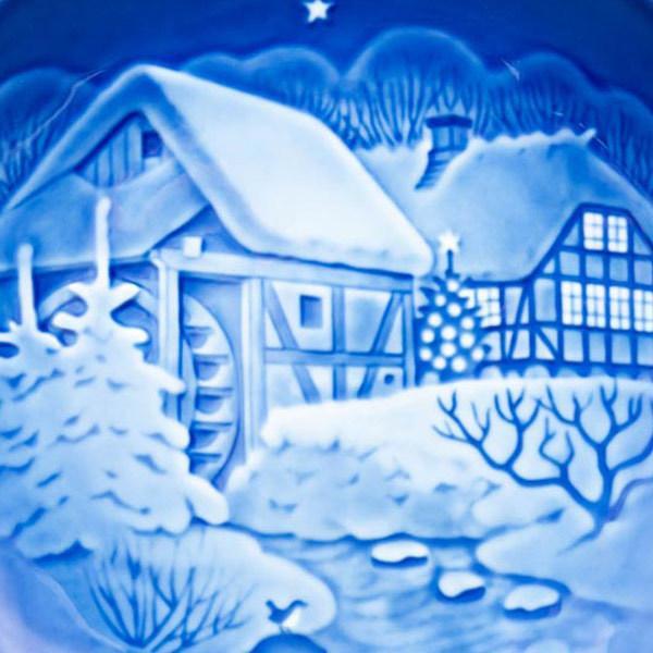 ビング・オー・グレンダール クリスマスプレート(1975年)『The Old Water Mill』|selectors|02