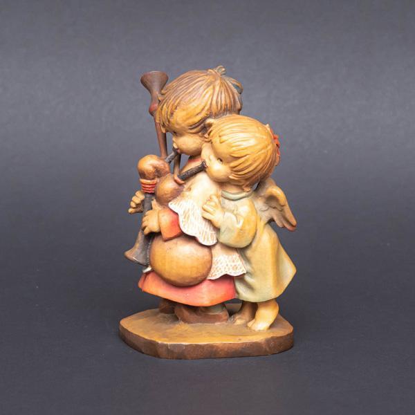 アンリ 木彫人形『The Helper(バグパイプを吹く少年と天使)』|selectors|02