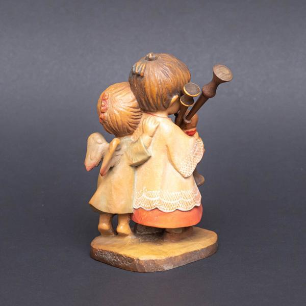 アンリ 木彫人形『The Helper(バグパイプを吹く少年と天使)』|selectors|03