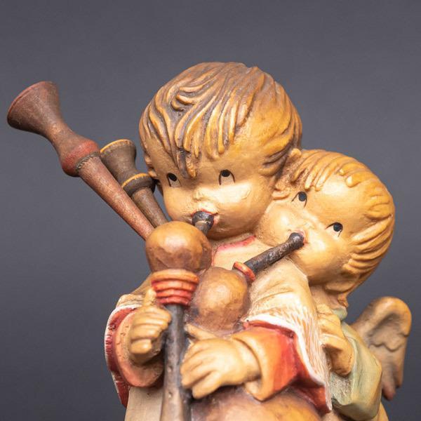 アンリ 木彫人形『The Helper(バグパイプを吹く少年と天使)』|selectors|04