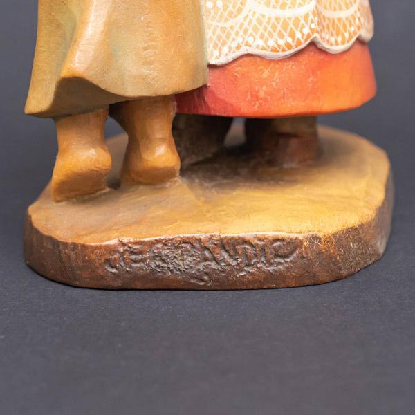 アンリ 木彫人形『The Helper(バグパイプを吹く少年と天使)』|selectors|05