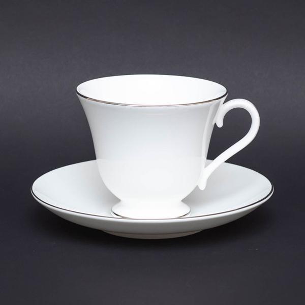 ウェッジウッド シグネットプラチナ ティーカップ&ソーサー(ヴィクトリア)|selectors