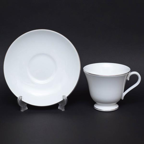 ウェッジウッド シグネットプラチナ ティーカップ&ソーサー(ヴィクトリア)|selectors|02