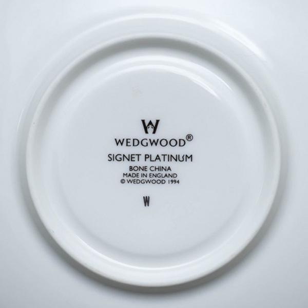 ウェッジウッド シグネットプラチナ ティーカップ&ソーサー(ヴィクトリア)|selectors|05