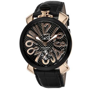 『2年保証』 ガガ ミラノ 腕時計 GAGA MILANO 5014.01S-BLK, tomoz e91ddb75