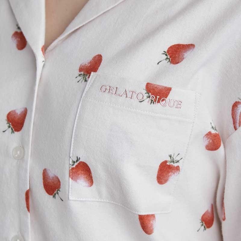 gelato pique ジェラートピケ ルームウェアー 通販 ネルモチーフモチーフシャツ pwft214256 selectshopmu 02