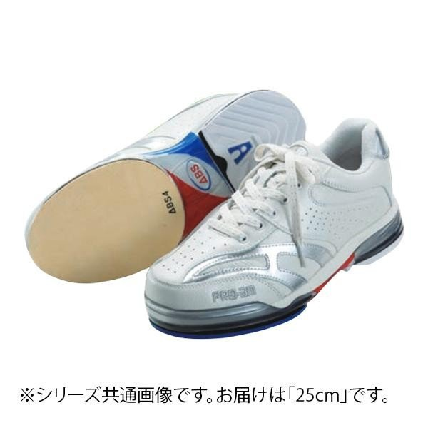 【公式】 ABS ボウリングシューズ ABS CLASSIC 左右兼用 ホワイト・シルバー 25cm, シゼム 60a85bd8