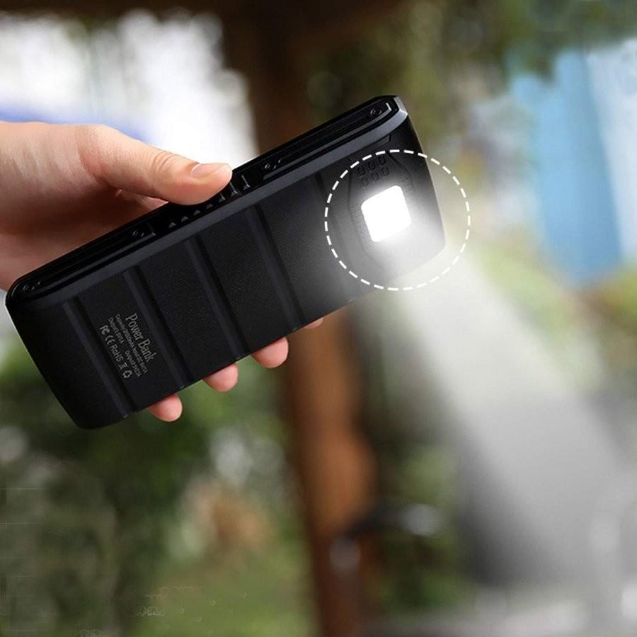 モバイルバッテリー ソーラーモバイルバッテリー 24000mAh 大容量 太陽光充電 パワーバンク ソーラー充電器 スマホ アウトドア iPhone Android|selectshoptoitoitoi|11
