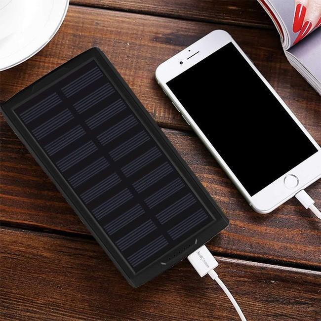 モバイルバッテリー ソーラーモバイルバッテリー 24000mAh 大容量 太陽光充電 パワーバンク ソーラー充電器 スマホ アウトドア iPhone Android|selectshoptoitoitoi|10