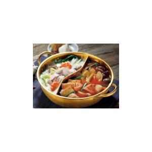 IH対応 金色のよくばり二食鍋28cm|self-shop