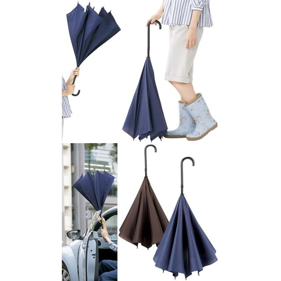 アイデア60cm傘。使って便利!さかさま傘|self-shop|03