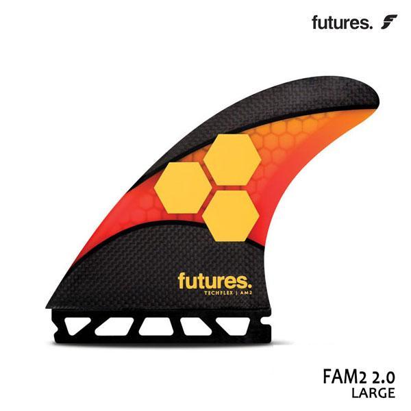 Future Fin,フューチャーフィン/トライフィン/TECHFLEX 2.0/TECH FLEX FAM2/オレンジ CARBON/Lサイズ/ショートボード/日本正規代理店品